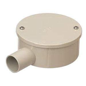 露出用丸形ボックス カブセ蓋 ミルキーホワイト 20個価格 未来工業 PVM22-1KPM