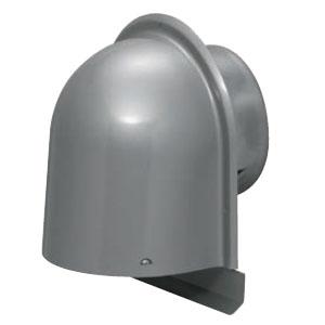 パイプフード(鐘型)防火ダンパー付 防虫ネット付 シルバー(6個価格) 未来工業 PYK-S125AD1