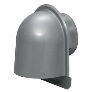 パイプフード(鐘型)防火ダンパー逆向き 防虫ネット付 サイズ125 シルバー(6個価格) 未来工業 PYK-S125AR