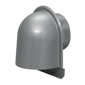 パイプフード(鐘型)ルーバー付 サイズ125 シルバー(6個価格) 未来工業 PYK-S125L