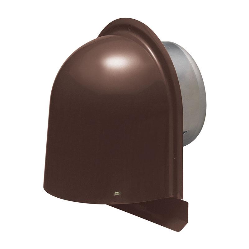 パイプフード(鐘型)防虫ネット付 サイズ150 チョコレート(6個価格) 未来工業 PYK-S150AT