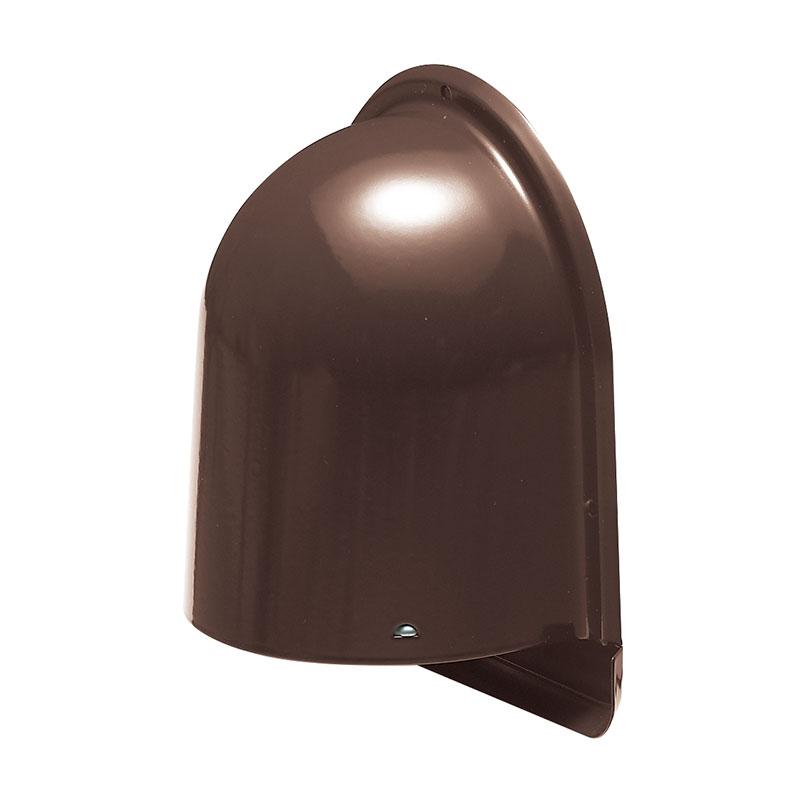 パイプフード(鐘型)寒冷地仕様 ルーバー付 サイズ150 チョコレート(6個価格) 未来工業 PYK-S150KLT