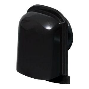 パイプフード(薄型)サイズ100 ブラック(12個価格) 未来工業 PYT-S100AK