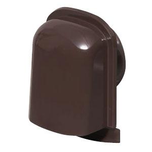 未来工業 パイプフード(薄型)サイズ150 チョコレート(6個価格) PYT-S150AT