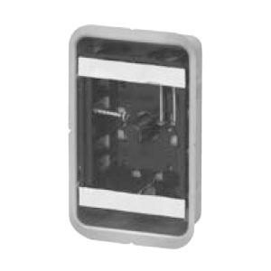 未来工業 鋼製カバー付スライドボックス センター磁石付 浅形 1ヶ用 50個価格 SBG-1FS-K