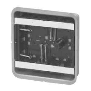 鋼製カバー付スライドボックス センター磁石付 浅形 2ヶ用 20個価格 未来工業 SBG-2FS-K