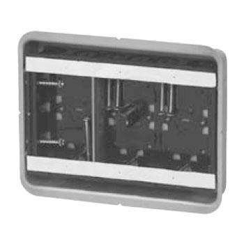 鋼製カバー付スライドボックス センター磁石付 浅形 3ヶ用 10個価格 未来工業 SBG-3FS-K