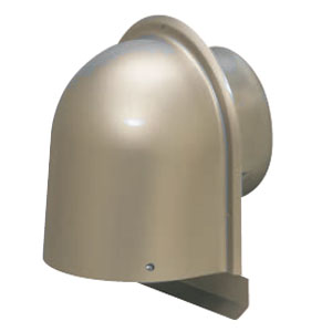 パイプフード(鐘型) サイズ150 シャンパンゴールド(6個価格) 未来工業 PYK-S150ARCG