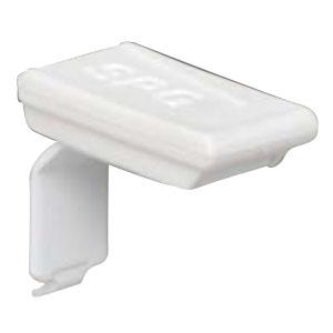SPG(サヌキ) フィット棚柱用フィット棚受 白塗装白ラバー 1箱1000個価格 LS-911HRW