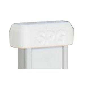 SPG(サヌキ) フラッシュ棚柱用MWエンドキャップ ホワイト 1箱1000個価格 LA-422