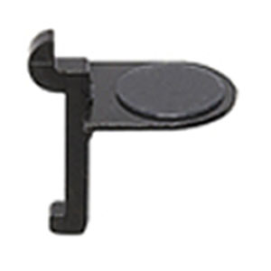 SPG(サヌキ) スリム棚柱用フック U型 棚受 ブラック 1箱1000個価格 LA-622