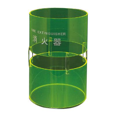 神栄ホームクリエイト 消火器ボックス(据置型)蛍光グリーン 消火器10型用 ※メーカー直送品 SK-FEB-FG330