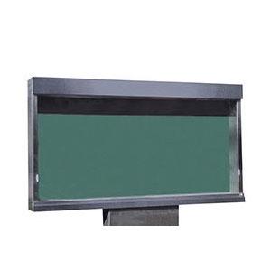 ステンレス屋外掲示板(1本脚型)LED照明付 レザーグリーン 受注生産品 メーカー直送品 代引不可 神栄ホームクリエイト SK-1800-1-LED