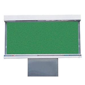 ステンレス屋外掲示板(1本脚型)蛍光灯付 レザーグリーン 受注生産品 メーカー直送品 代引不可 神栄ホームクリエイト SK-1800-1G