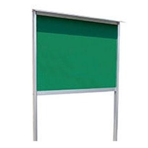 神栄ホームクリエイト アルミ屋外掲示板(2本脚型・ブロンズ)960×1900×24 レザーグリーン 受注生産品 メーカー直送品 代引不可 SK-6034-2-BC