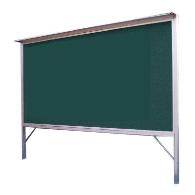 神栄ホームクリエイト アルミ屋外掲示板(2本脚型・シルバー)900×1200×30 レザーグリーン 受注生産品 メーカー直送品 代引不可 SK-6035-1