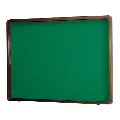 神栄ホームクリエイト アルミ屋外掲示板(壁付オープン型・ブロンズ)930×1830×70 レザーグリーン 受注生産品 メーカー直送品 代引不可 SK-8040N-3-BC