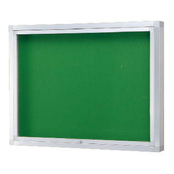 神栄ホームクリエイト アルミ屋外掲示板(壁付オープン型・シルバー)950×1850×100 レザーグリーン 受注生産品 メーカー直送品 代引不可 SK-8070-2-SLC