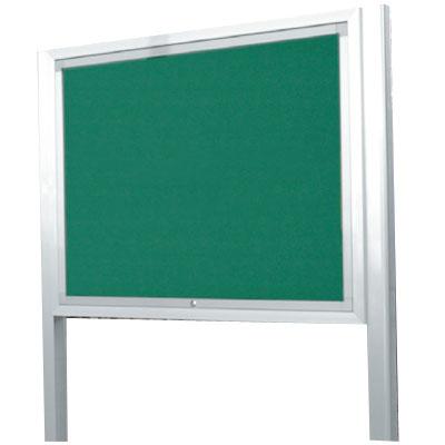 神栄ホームクリエイト アルミ屋外掲示板(オープン型・ブロンズ)950×1250×100 レザーグリーン 受注生産品 メーカー直送品 代引不可 SK-8071-1-BC
