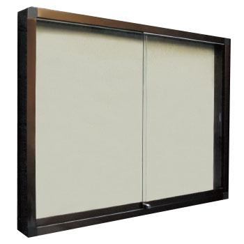 神栄ホームクリエイト アルミ屋外掲示板(壁付型・ステンカラー)950×1250×100 LED付 レザーアイボリー 受注生産品 メーカー直送品 代引不可 SK-2070-1-SC
