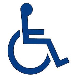 神栄ホームクリエイト サイン(突出スイング型)身障者マーク 青 200×198×15.5 ※メーカー直送品 SK-AS-2SW-S-9A