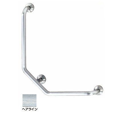 神栄ホームクリエイト L型握りバー 外径38×500×700 ヘアライン Gタイプ 右勝手 ※メーカー直送品 SK-197S-500x700