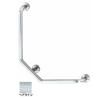 神栄ホームクリエイト L型握りバー 外径38×600×700 ヘアライン Dタイプ 右勝手 ※メーカー直送品 SK-197S-600x700