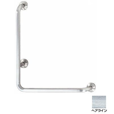 神栄ホームクリエイト L型握りバー 外径32×500×700 ヘアライン Dタイプ 右勝手 ※メーカー直送品 SK-195S-500x700