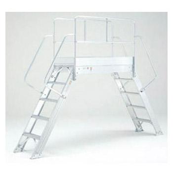 渡り足場 天場高さ1.00m×長さ1467mm(段数4)メーカー直送品・代引不可 PICA DWB-1015