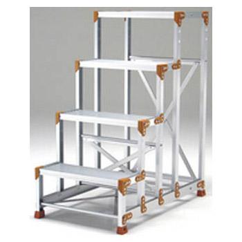 作業台 FG-CPタイプ(踏面縞板タイプ)(天場高さ:1.20m)段数4 メーカー直送品・代引不可 PICA FG-4612CP