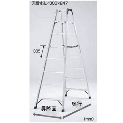 PICA 専用脚立 HM(天板高さ:0.54m)【メーカー直送品・代引不可】 HM-C60