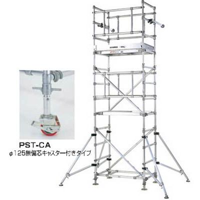 パイプ製足場(スタンダードタイプ)2段セット 全高4.31~4.54m メーカー直送代引不可 PICA PST-2CA