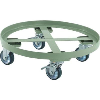 トラスコ 円形台車(全周ガイドタイプ・ストッパー付)500kg/床面高さ198mm【代引不可・メーカー直送品】 RC-500S