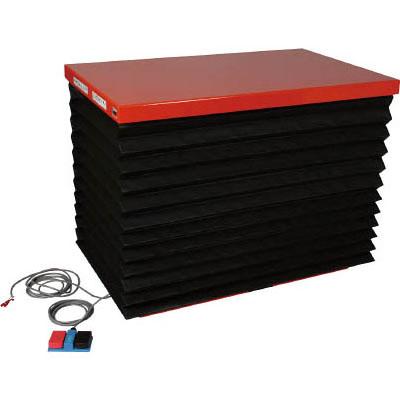 トラスコ テーブルリフト(油圧ユニットタイプ)1000kg/幅600×長さ1200×高さ155~1015mm【代引不可・メーカー直送品】 HDL-100-0612