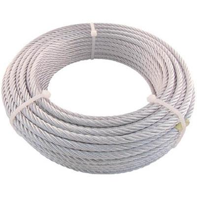 トラスコ JIS規格品メッキ付ワイヤロープ (6×19)φ6mm×50m※取寄せ品 JWM-6S50
