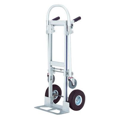 トラスコ アルミ製二輪運搬車(2輪、4輪2通り)【代引不可・メーカー直送品】 TAM100