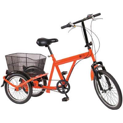 トラスコ 構内・災害時用 ノーパンク三輪自転車 ハザードランナートライ メーカー直送 代引不可 THR5503