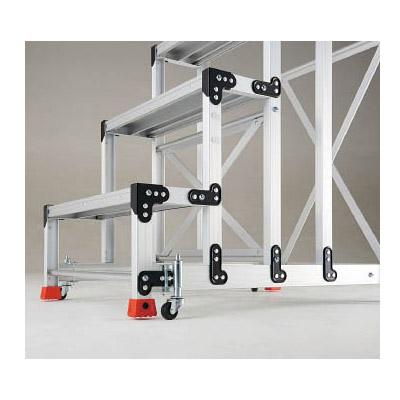 トラスコ 手すり3段4段アルミ作業用踏台スプリングキャスター 4個1セット ※取寄せ品 TSC-4A