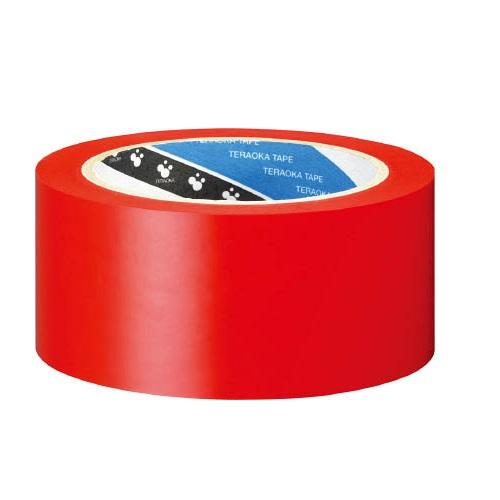 ラインテープ 50mm×20m 赤 (1箱・36巻価格)メーカー直送品 寺岡 340