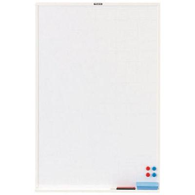 トラスコ スチール製ホワイトボード 白暗線 ブロンズ 900×600 ※取寄せ品 WGH-32SA-BL