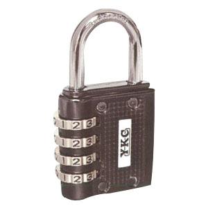 YKC フリーダイヤル錠 40mm(ブラック) 業務用6個セット #120
