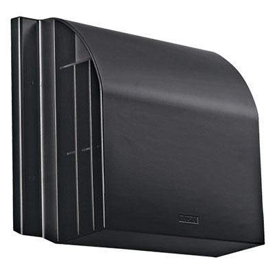 ナスタ 屋外フード(径150、アルミ、BK、網無、D付)※メーカー直送品 8609AHD-BK