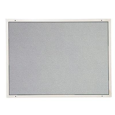 ナスタ ステンレス掲示板 410×550 ビニールレザー貼り グレー色 ※受注生産品 ※メーカー直送品 EX362S-4155A