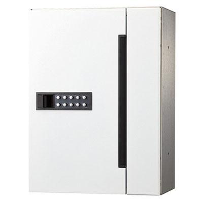 ナスタ 集合郵便受箱 屋内仕様 前入前出 可変プッシュボタン錠 ホワイト ※メーカー直送品 MB507S-PK-W