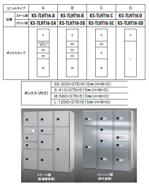 デリバリーボックス(コンピューター式・テンキー・スルータイプ)ステンレス扉 Cユニット 前入後出 ※受注生産品※メーカー直送品 ナスタ TLHT18-SC