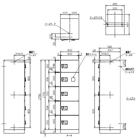 デリバリーボックス(メカ式)宅配W450 スチール扉Aユニット 扉黒 ※受注生産品※メーカー直送品 ナスタ TLK450-FA-BK
