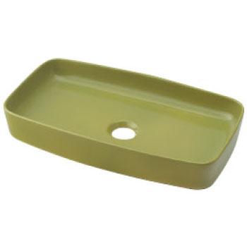 角型手洗器 ピスタチオ カクダイ 493-073-GR