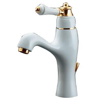 シングルレバー混合栓 取付穴径33~35ミリ 引棒付き 白塗装仕上 寒 逆止なし カクダイ 183-200K