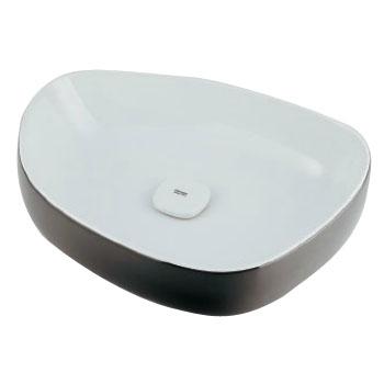 カクダイ 洗面器 ホワイト/ブラック ※メーカー直送代引不可 #LY-493210WD