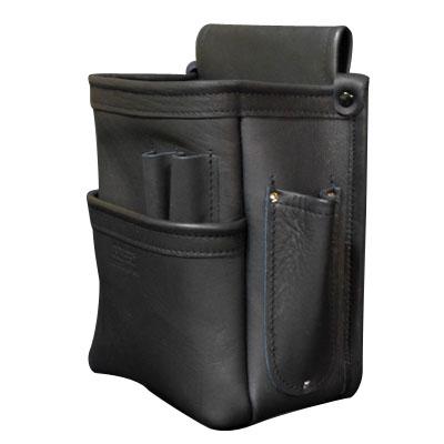 KNICKS(ニックス) 総グローブ皮仕上腰袋フチ 総グローブ革テープ巻 ブラック ※取寄品 KB-201DDSP